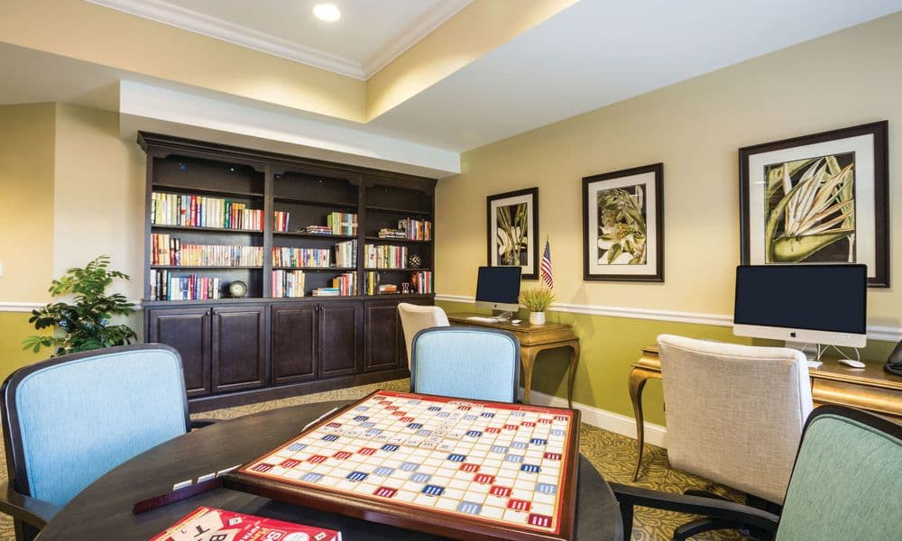 Entertainment room at The Enclave at Anthem Senior Living