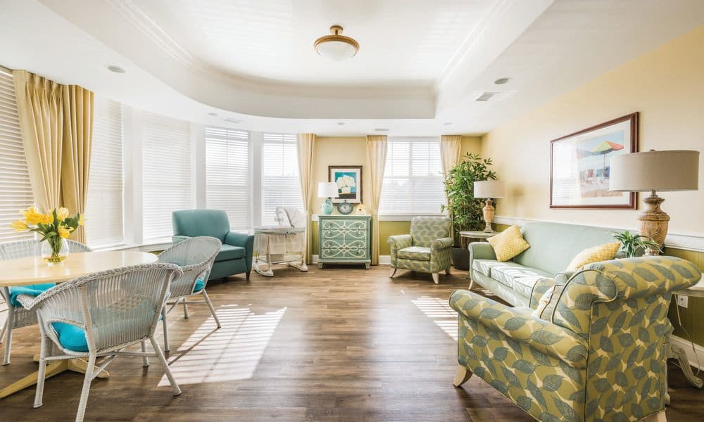 Living room at The Enclave at Anthem Senior Living