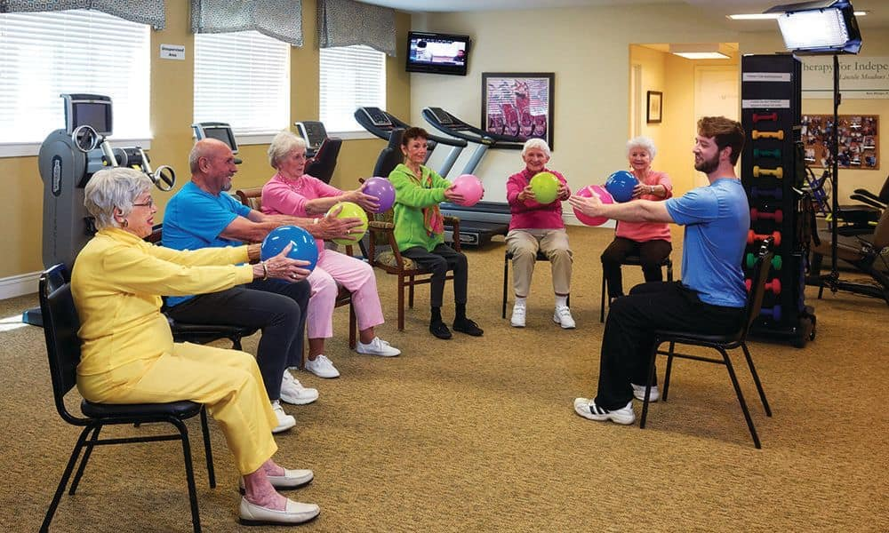 Exercise activities at The Enclave at Anthem Senior Living