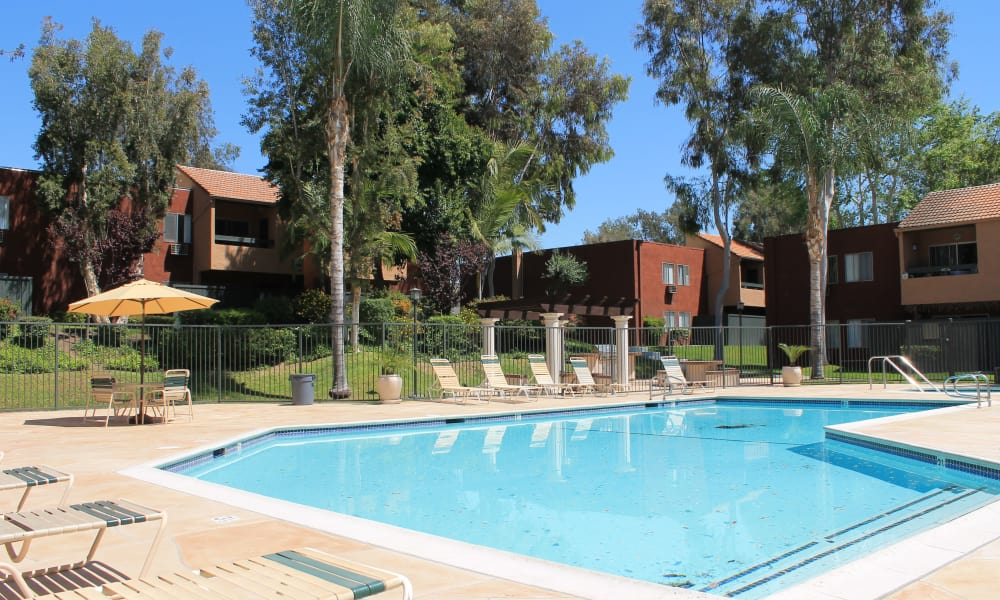 Brookhollow Apartments offers a great for entertaining swimming pool in West Covina, California