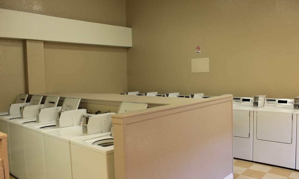 Newly updated laundry facility at apartments in West Covina, California