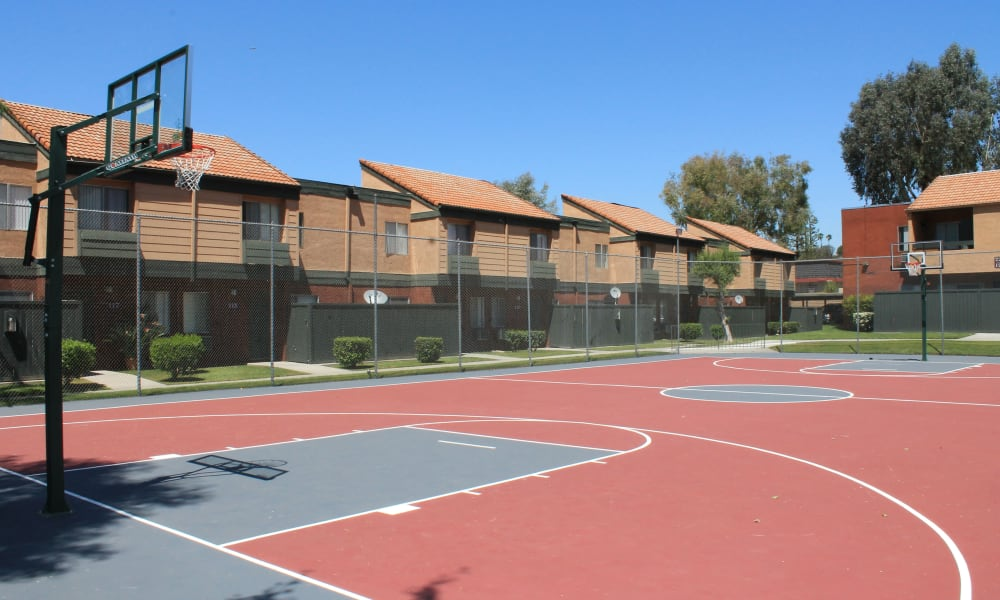 Our apartments in West Covina, California have a basketball court that's great for entertaining