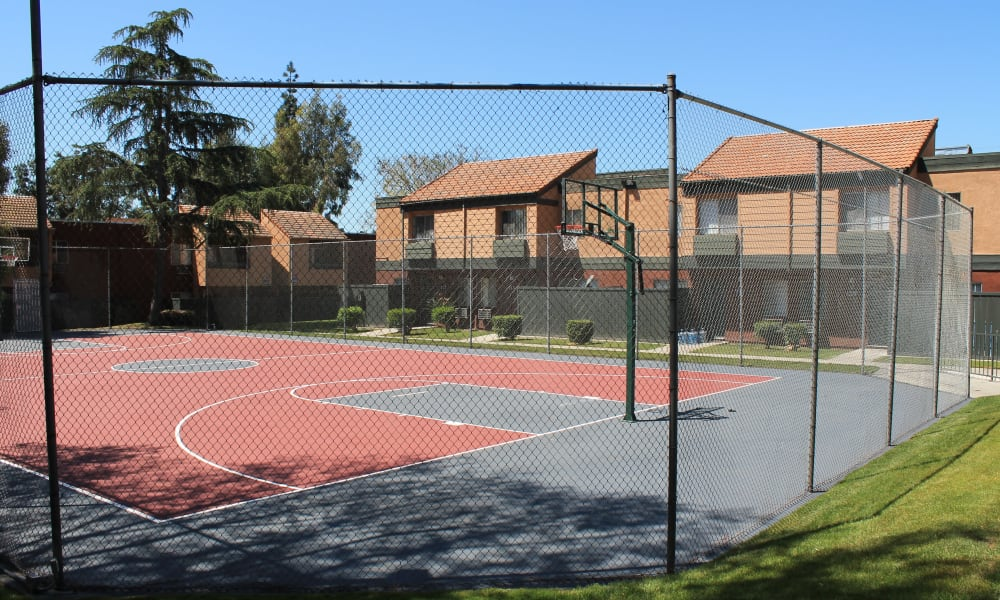 A basketball court that is great for entertaining at Brookhollow Apartments in West Covina, California