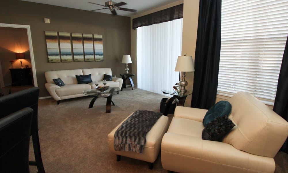 Open-concept living and dining room at Palms at Wyndtree