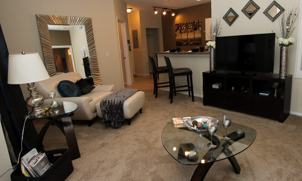 Cozy living room at Palms at Wyndtree
