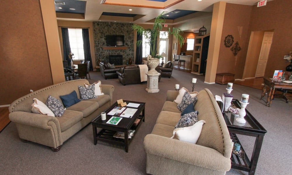 Rest your legs in the Palms at Wyndtree clubhouse