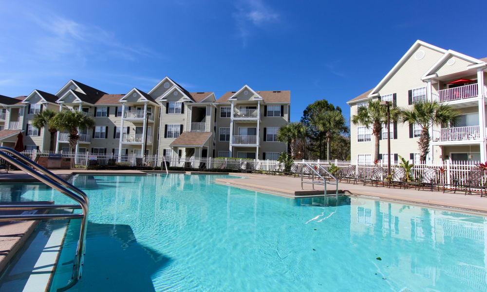 Beautiful blue pool at Palms at Wyndtree