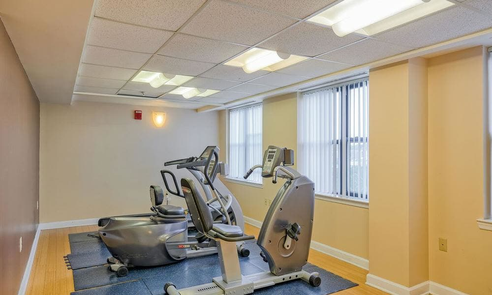 Fitness center at apartments in Washington, District of Columbia