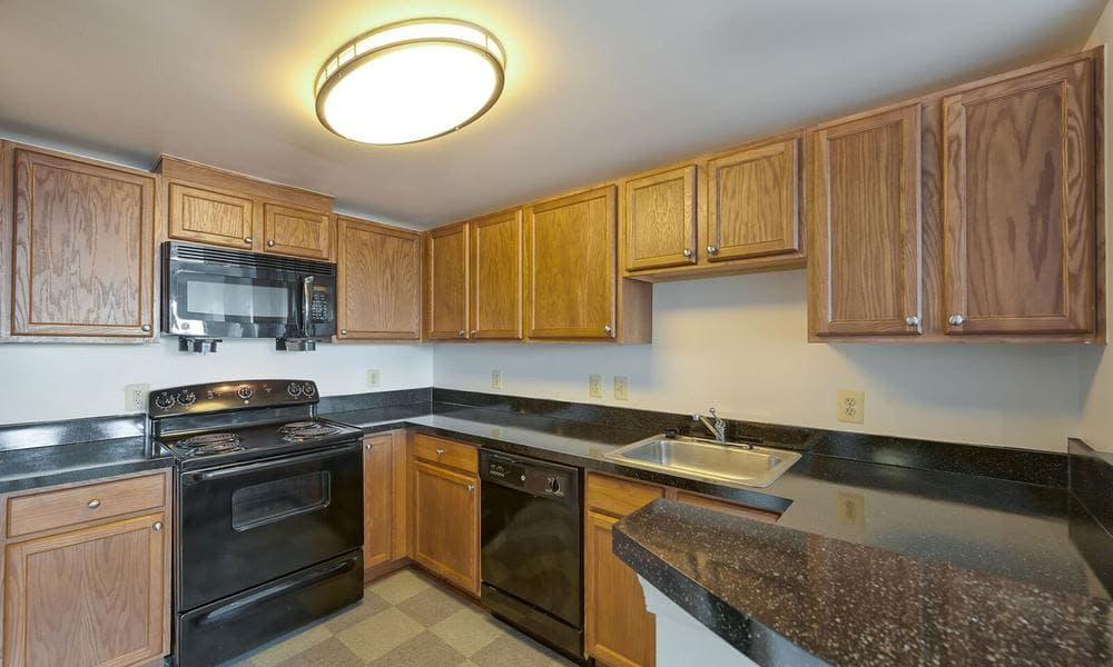 Kitchen at apartments in Washington, District of Columbia