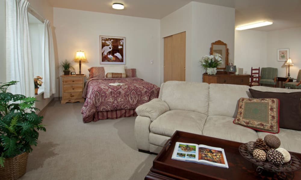 Living room in a GenCare Lynnwood at Scriber Gardens