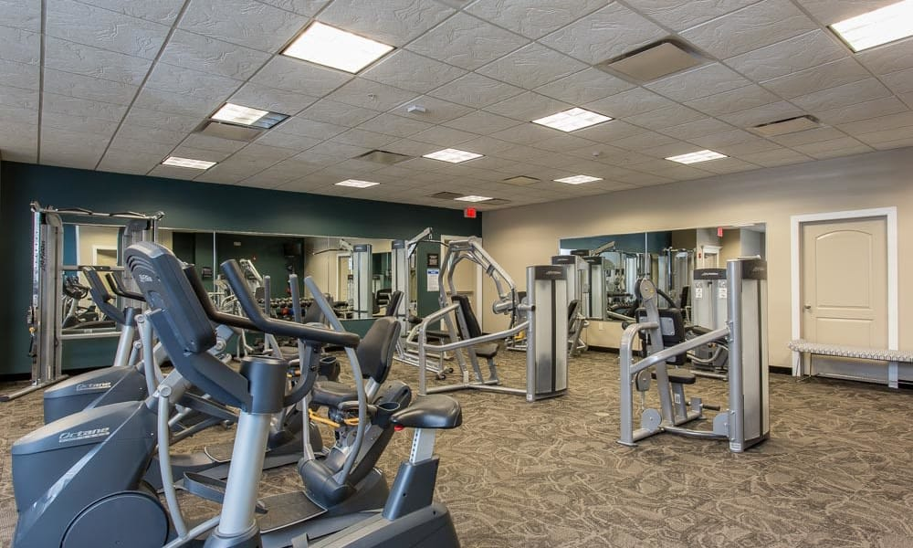 Fitness center at Gateway Landing on the Canal