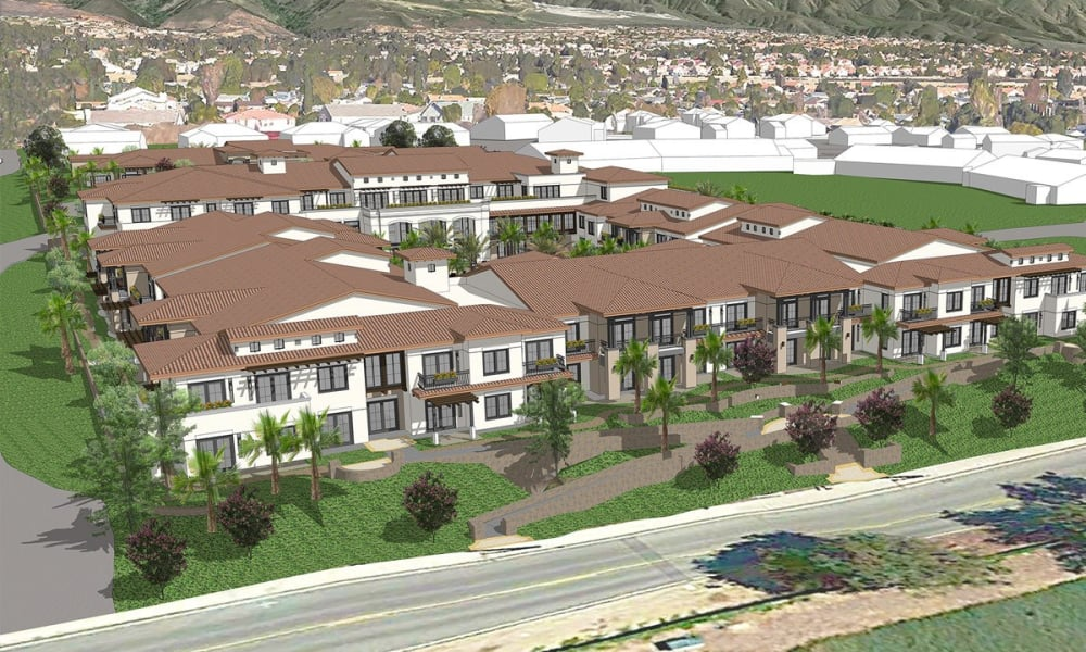 Exterior rendering of Merrill Gardens at Rancho Cucamonga in Rancho Cucamonga, CA