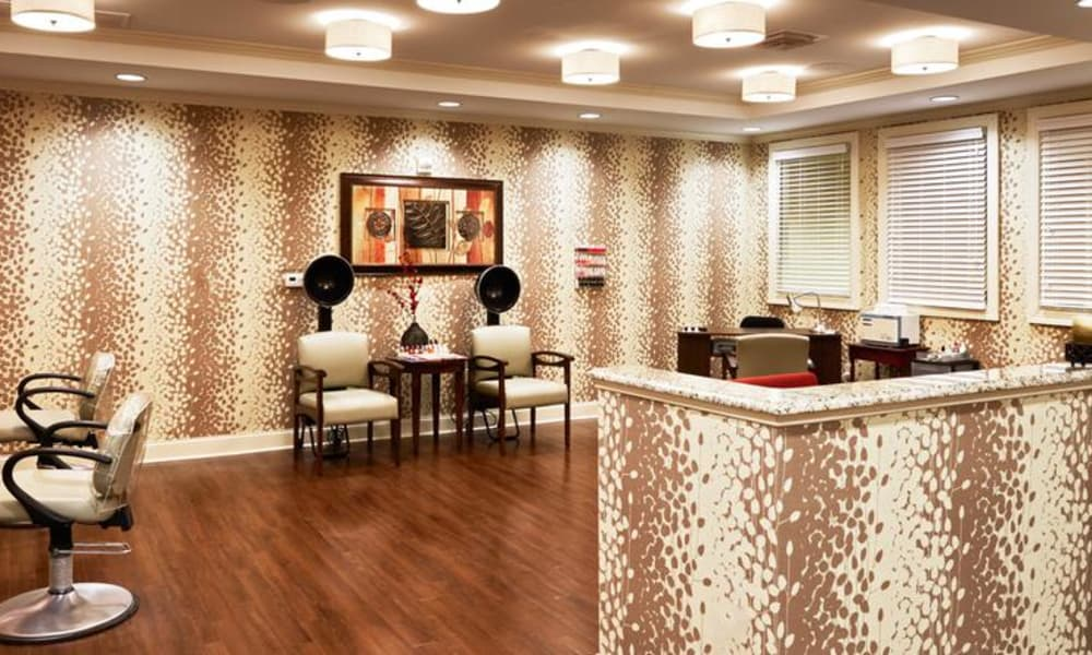 Spa & salon at Waltonwood Providence in Charlotte, NC