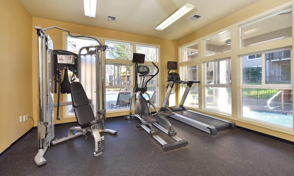 Stay healthy in the Preserve at Sunnyside Apartments fitness center in Clackamas