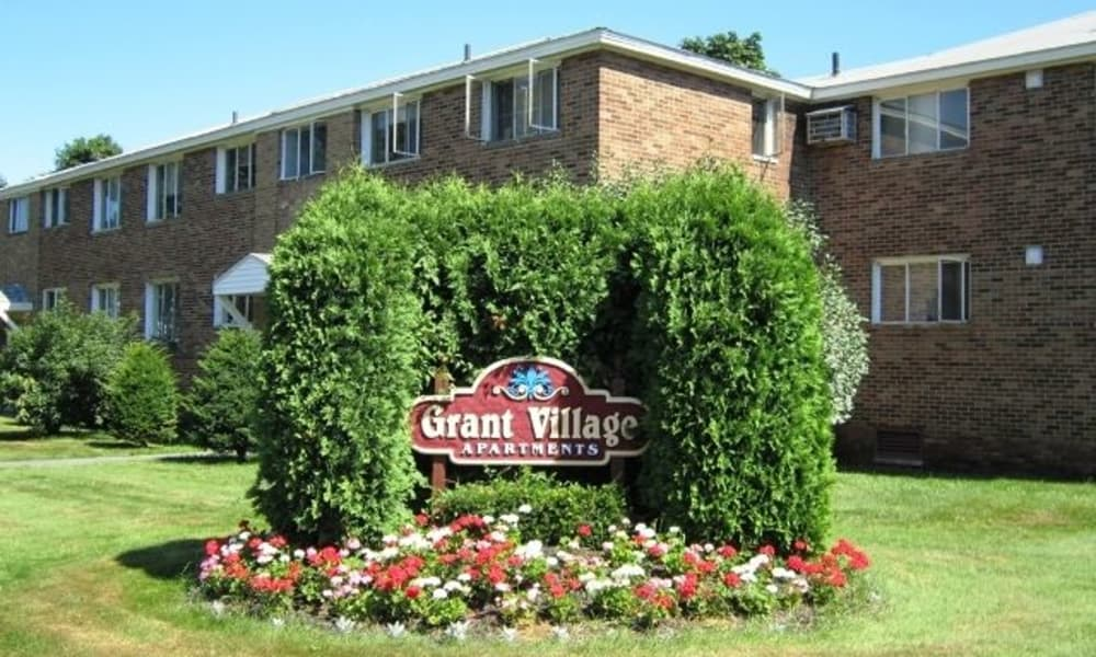 Front sign at Grant Village Apartments in Syracuse
