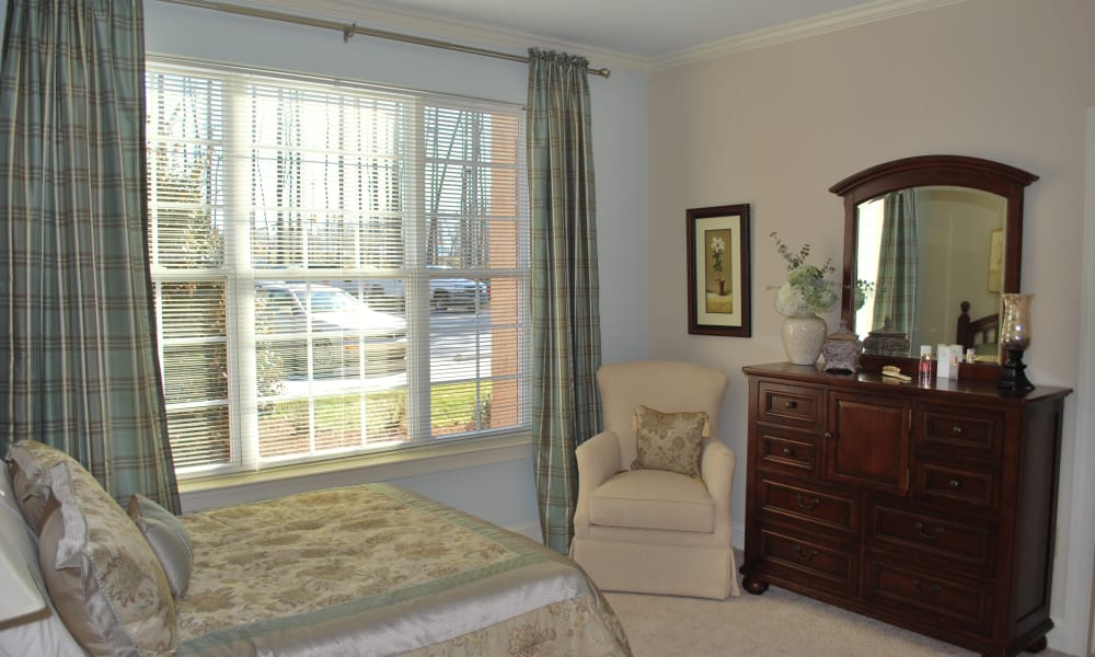 Bedroom at Waltonwood Cary Parkway