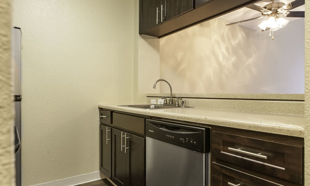 Kitchen at The Timbers Apartments in Hayward, CA