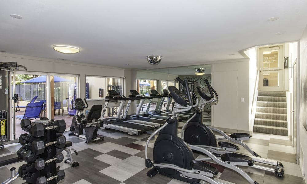 The Timbers Apartments offers a fitness center in Hayward, CA