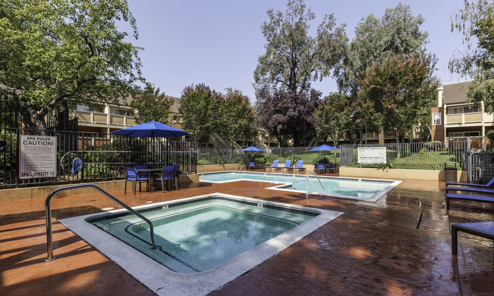 The Timbers Apartments offers a beautiful swimming pool in Hayward, CA