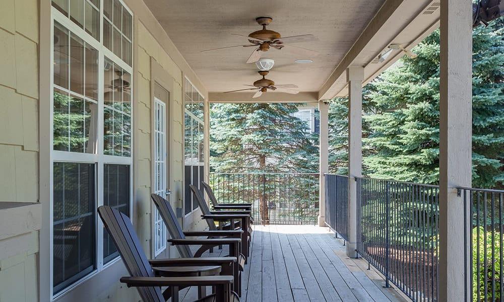 back porch chairs at Auburn Gate in Auburn Hills, MI