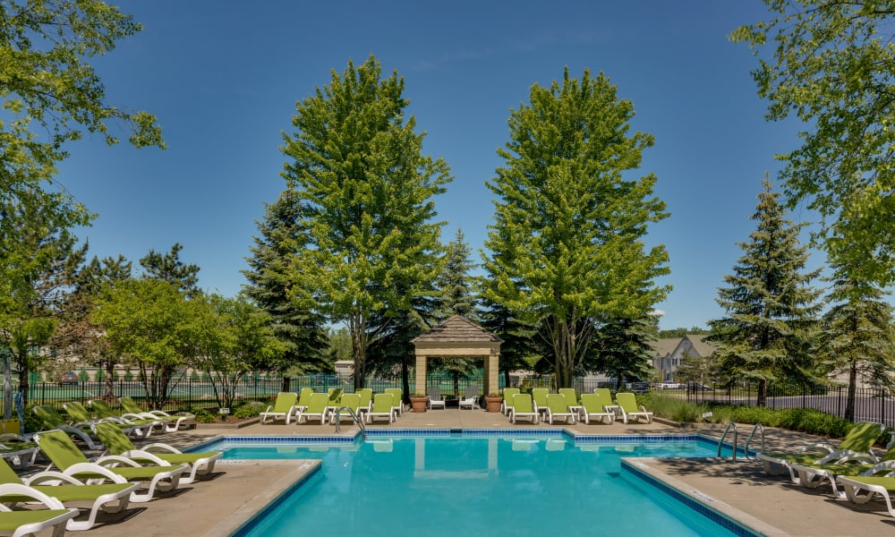 Our apartments in Auburn Hills, MI have a swimming pool that's great for entertaining