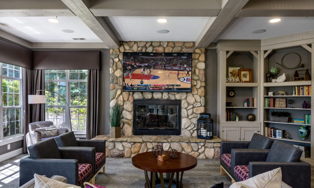 Our apartments in Auburn Hills, MI showcase a luxury living room