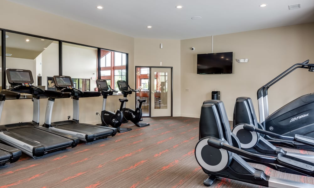 The Trilogy Apartments offers a fitness center in Belleville, MI