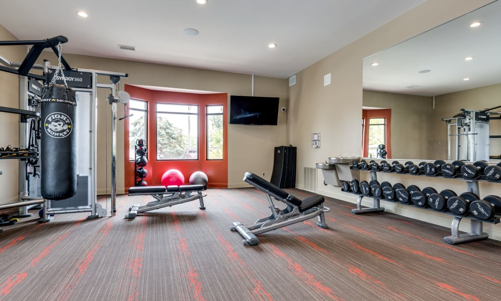 Our apartments in Belleville, MI offer a fitness center