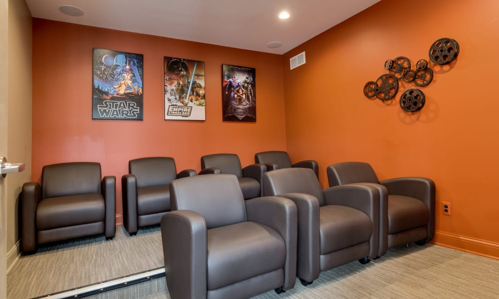The Trilogy Apartments offers a mini theater in Belleville, MI