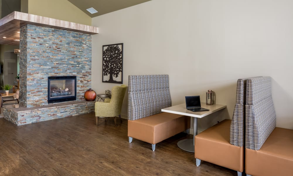 Clubhouse meeting area at The Trilogy Apartments in Belleville, MI