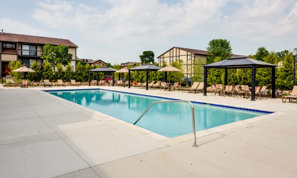 The Trilogy Apartments offers a swimming pool in Belleville, MI