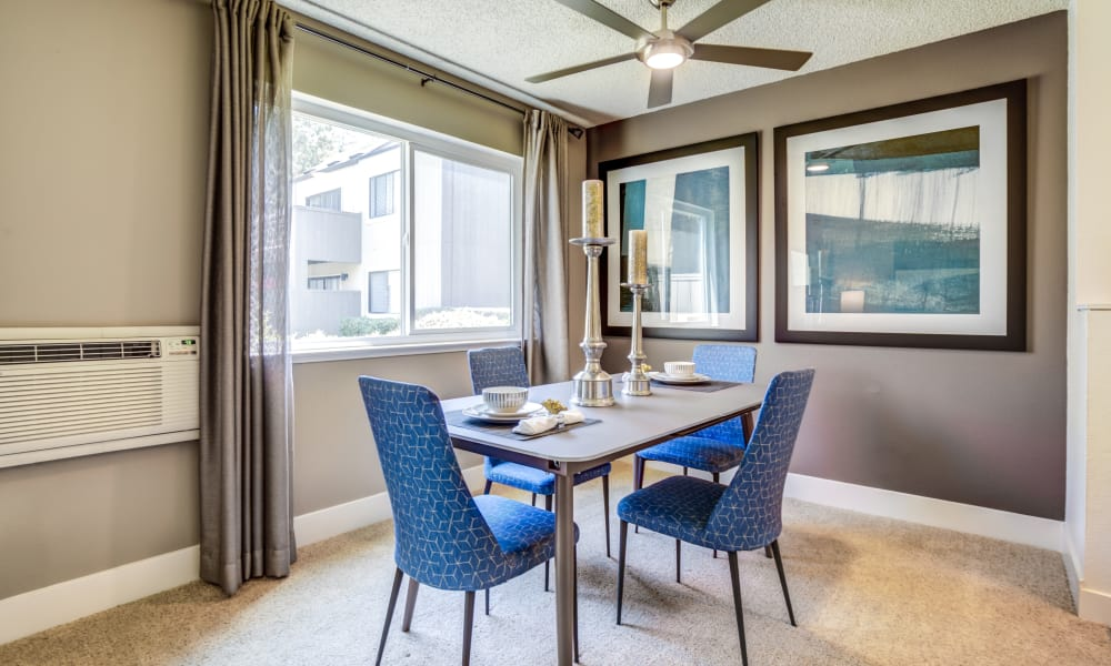 Spacious dining room at Terra Apartments in San Jose, CA