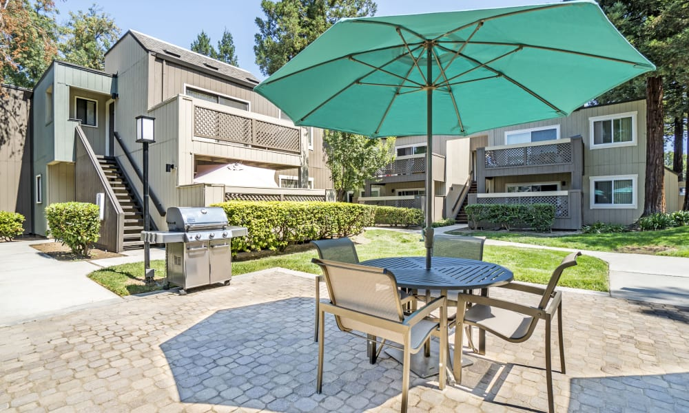 Luxury bbq area at Terra Apartments in San Jose, CA