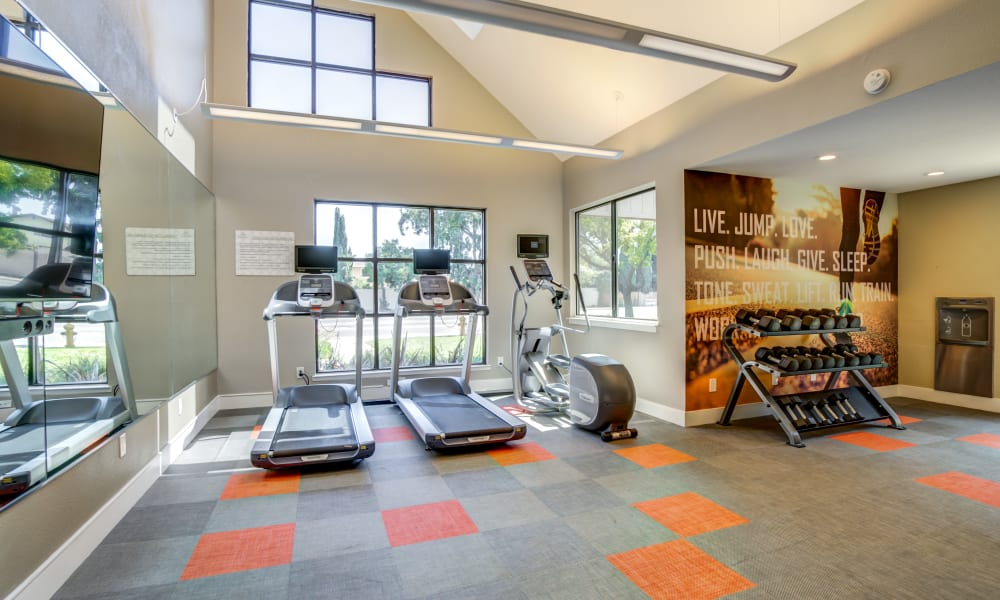 Fitness center at Terra Apartments in San Jose, CA