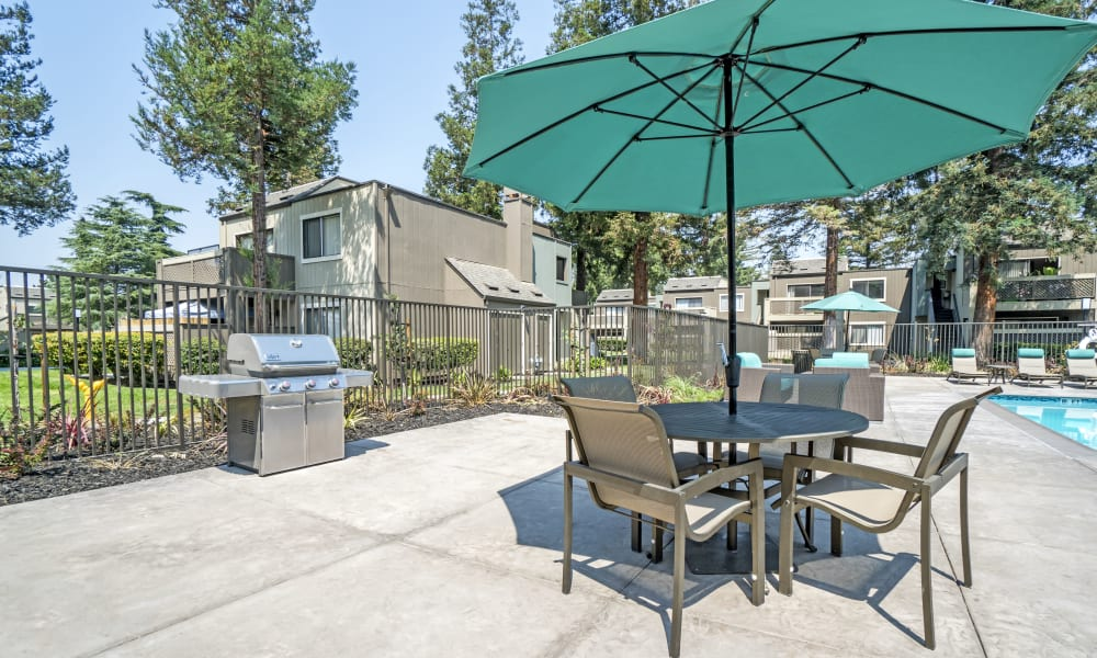 Beautiful bbq area at Terra Apartments in San Jose, CA