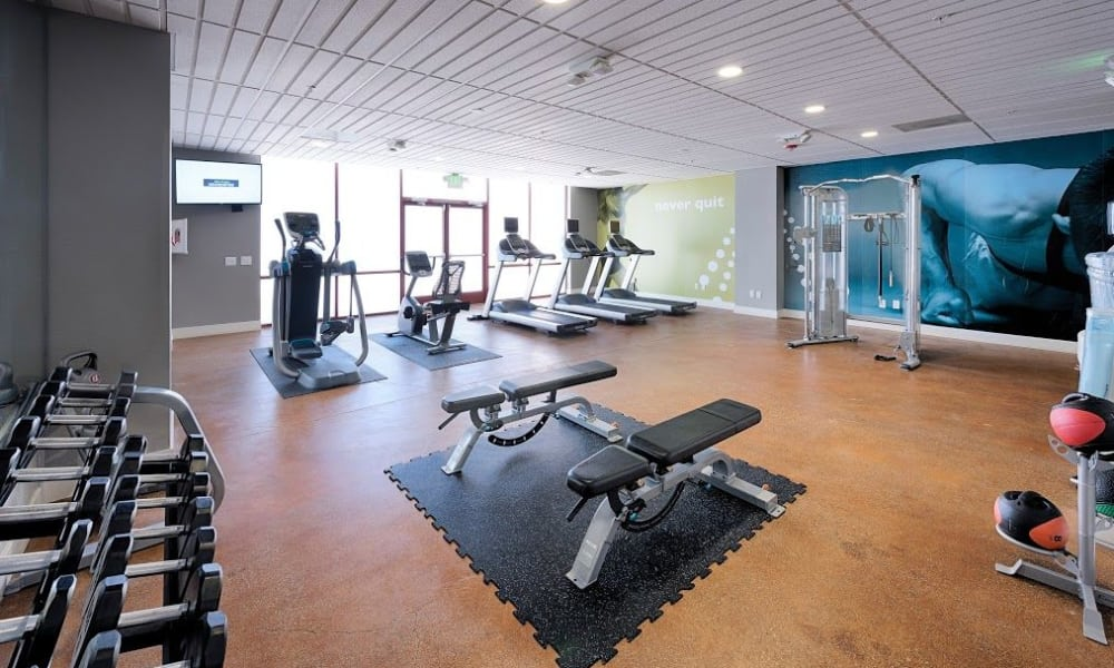15Fifty5 Apartments fitness area in Walnut Creek
