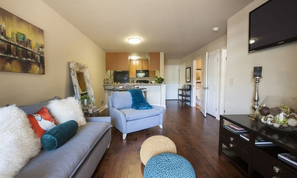 Beautiful open floor plans at 15Fifty5 Apartments in Walnut Creek