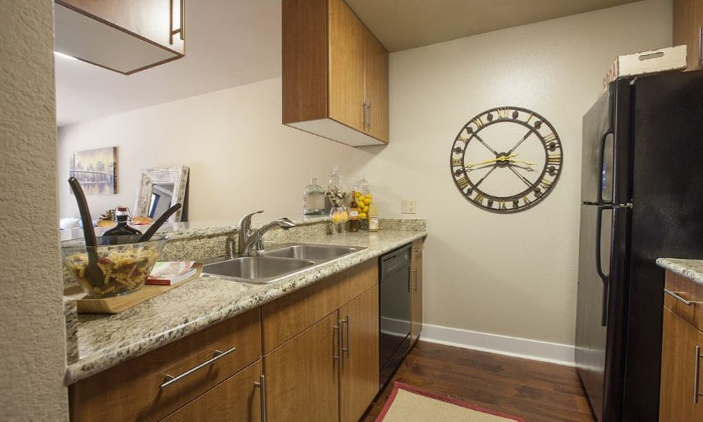 Beautiful counter tops at 15Fifty5 Apartments in Walnut Creek