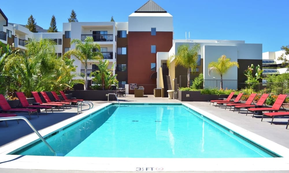 Pool and Lobby area at 15Fifty5 Apartments in Walnut Creek