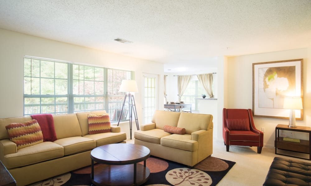 Ashwood Valley offers a naturally well-lit living room in Danbury, CT