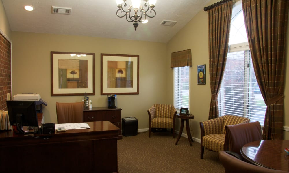 Business office at Carriage Hill Apartments in Pittsford, NY