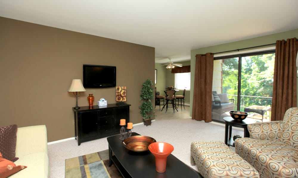 Chelsea Ridge Apartments offers a naturally well-lit living room in Wappingers Falls, NY