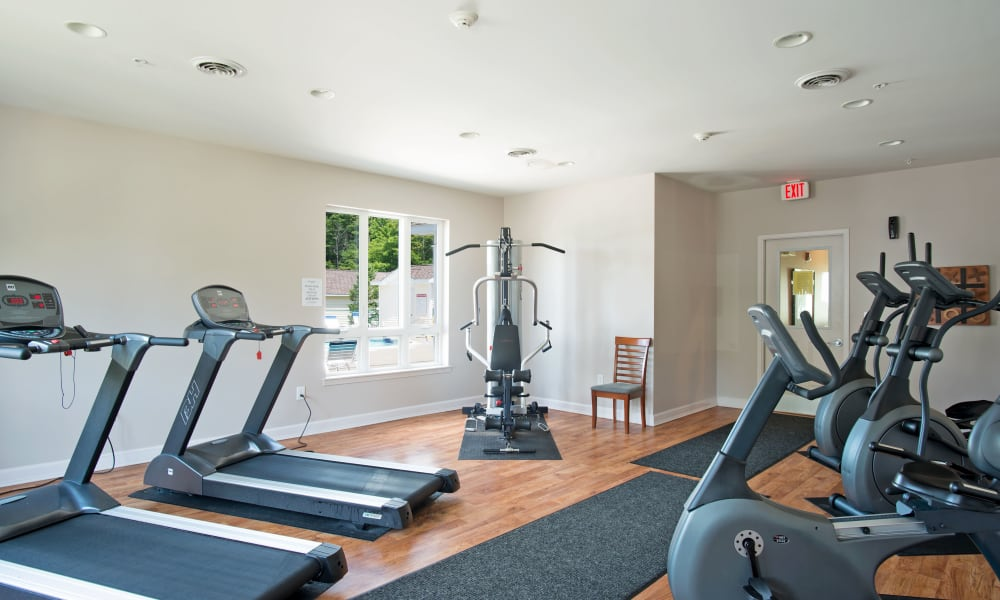 Fitness center at Forrest Pointe Apartments and Townhomes in East Greenbush, NY