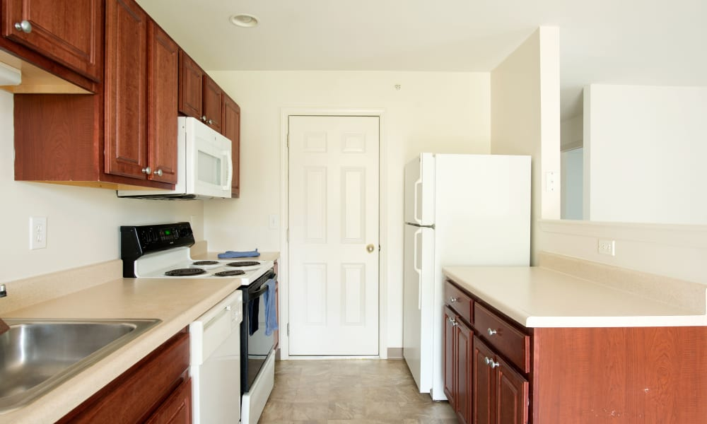 Kitchen Hallway at Forrest Pointe Apartments and Townhomes in East Greenbush, NY
