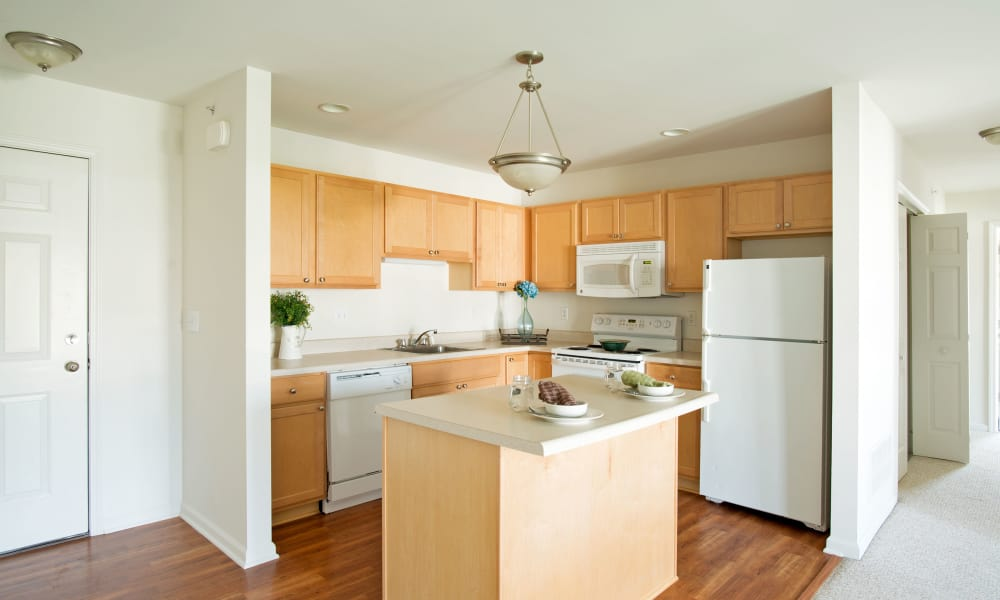 Enjoy apartments with a kitchen at Hampton Run