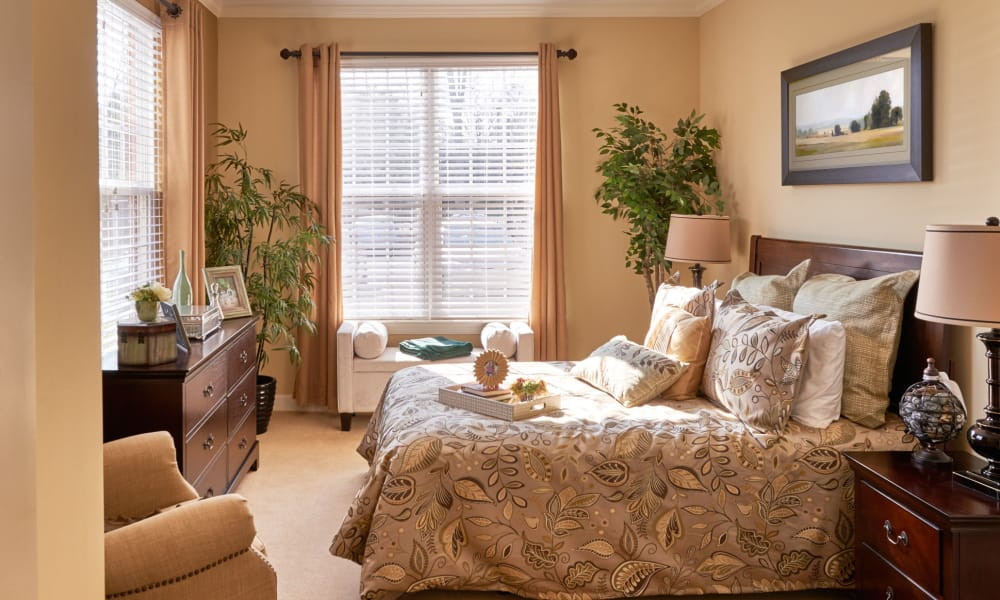 Our independent living community bedroom in Charlotte, NC