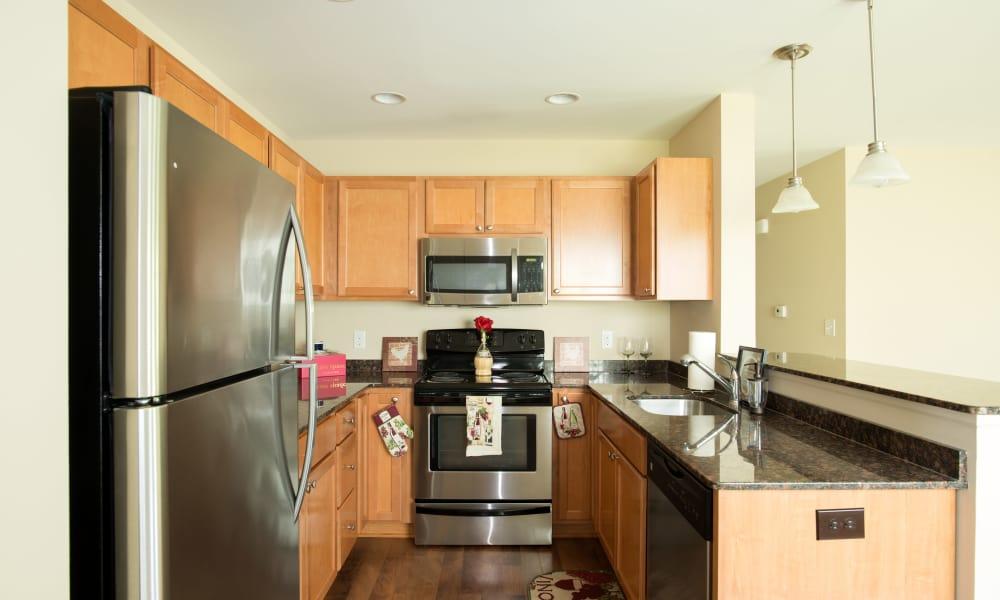 Kitchen hallway at Stonebridge Enclave in Ballston Lake, NY