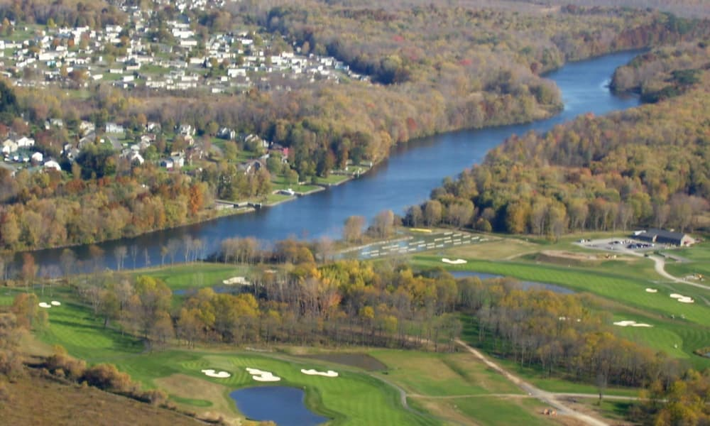 Golf course aerial view at The Fairways at Timber Banks in Baldwinsville, NY