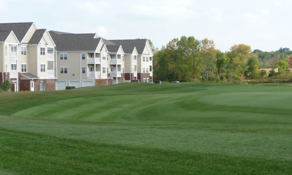 Fancy golf course near the apartments at The Fairways at Timber Banks in Baldwinsville, NY