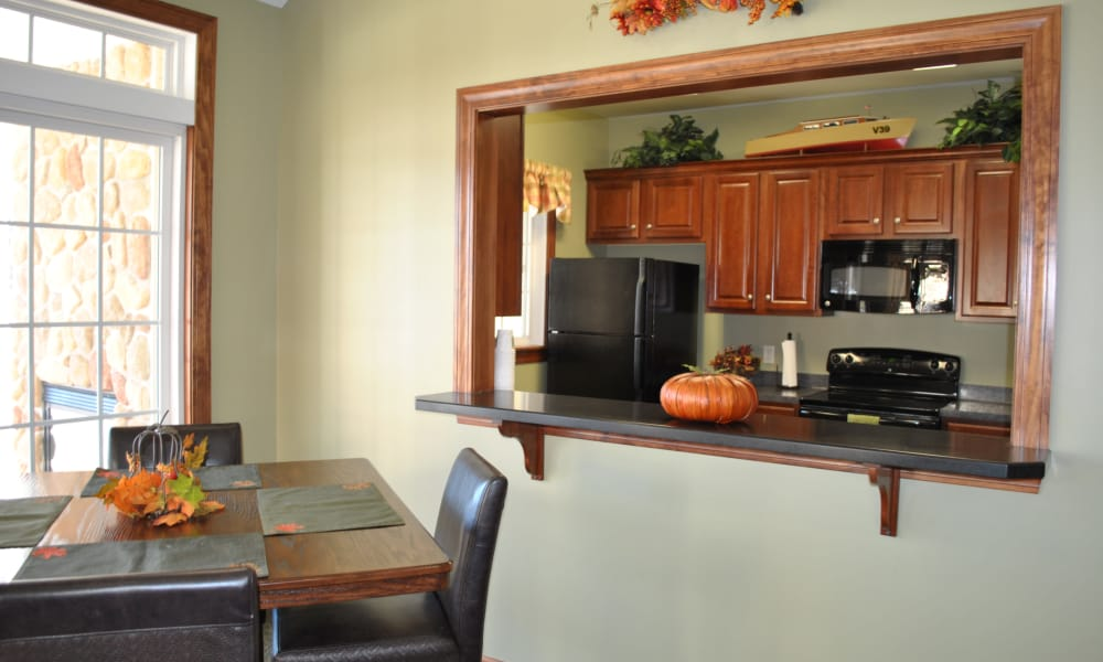 Kitchen room at The Fairways at Timber Banks in Baldwinsville, NY